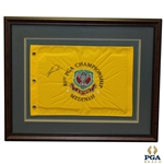 Tiger Woods Signed 1999 PGA Championship at Medinah Embroidered Pinney Flag-2nd Career Major Win- JSA ALOA
