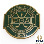 1941 PGA Championship at Cherry Hills Contestant Badge - Vic Ghezzi Winner - Near Mint