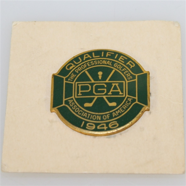 1946 PGA Championship at Portland C.C. Contestant Badge - Ben Hogan First Major Win - Near Mint