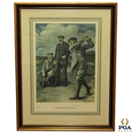 JH Taylor, James Braid, & Harry Vardon The Triumvirate Limited Edition Lithograph 256/300 - Framed