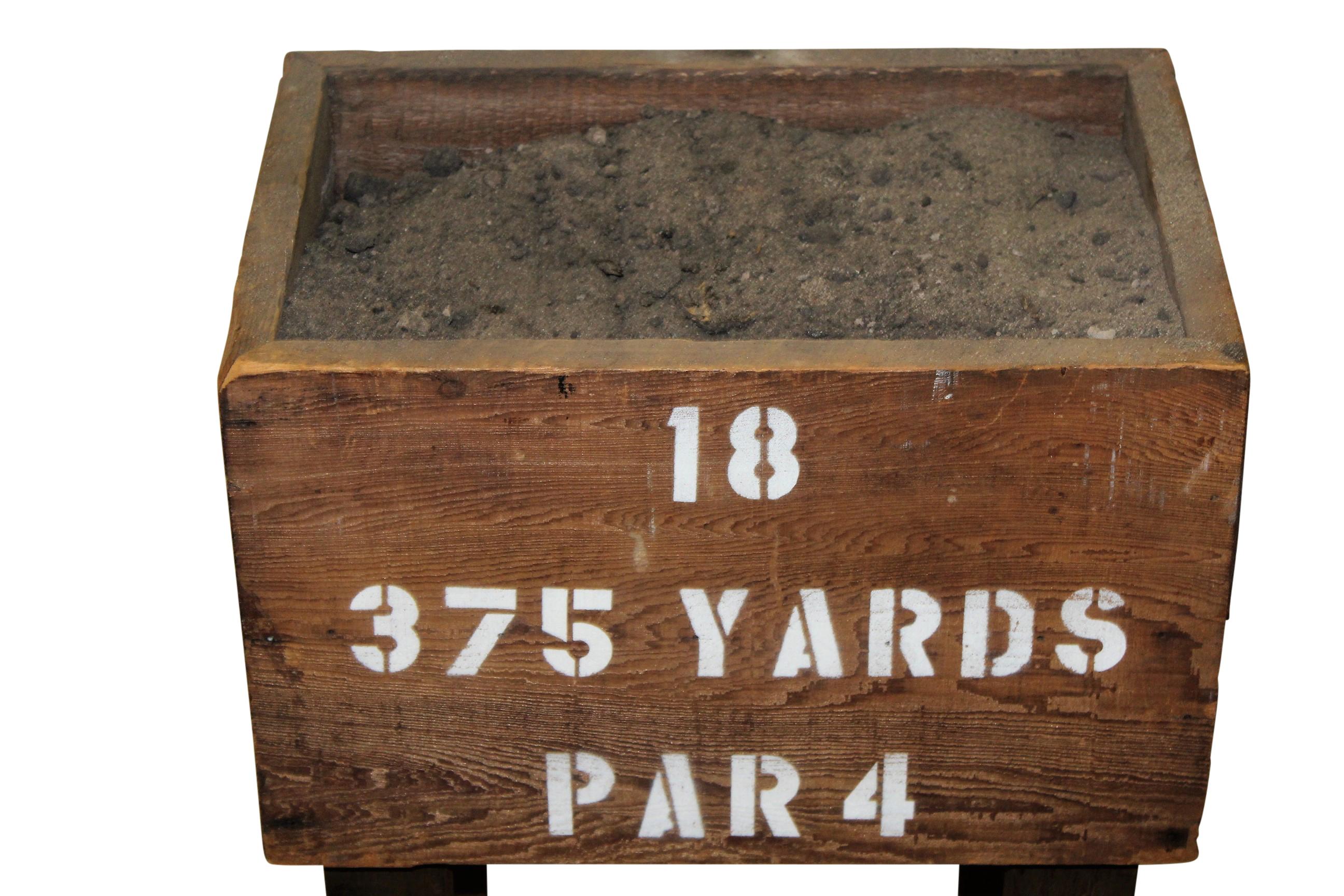 lot detail - circa 1900 sand tee box