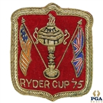 1975 Ryder Cup @ Laurel Valley Crest Shield Player Blazer Patch - Red With Gold Piping - Small