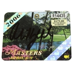 Phil Mickelson Signed 2006 Masters Tournament Badge #R14435 - Second Green Jacket JSA ALOA