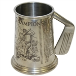 19th Hole American Open Championship Pewter Golf Tankard - US Open Winners Listed