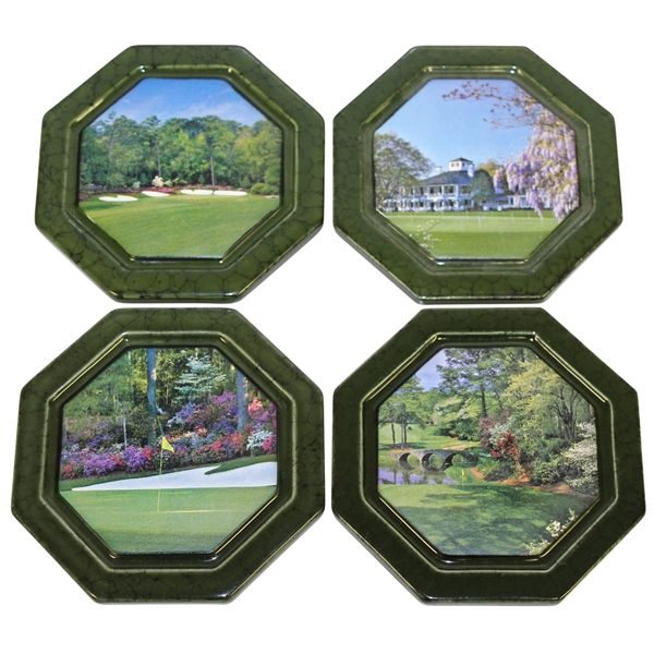 Masters Tournament - Augusta National GC Green Ceramic Coasters - 4 In Original Box