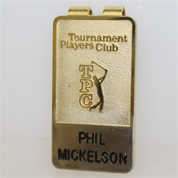 Phil Mickelson TPC Tournament Players Club Money Clip by Pro Clip in Box
