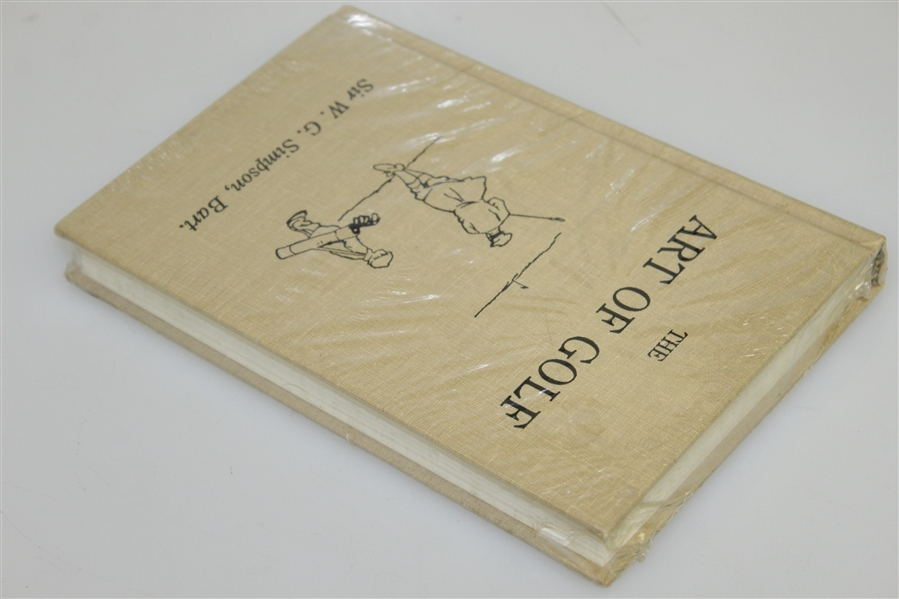 'The Art of Golf by Sir W.G. Simpson - New in Shrink Wrap