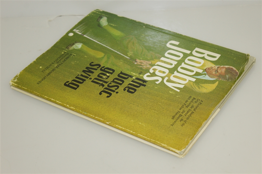 1969 Bobby Jones one the Basic Golf Swing 1st Edition Book with Dust Jacket