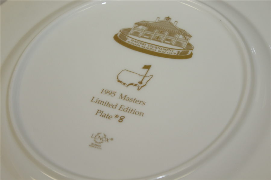Masters Limited Edition Lenox Commemorative Plate #8 - 1995