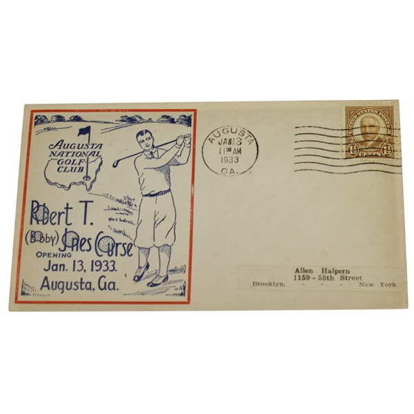1933 Augusta National Golf Club 'Bobby Jones Course Opening' FDC - Red