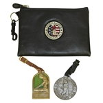 2005 US Open at Pinehurst Valuables Pouch with Bag Tag & other 1895 Bag Tag