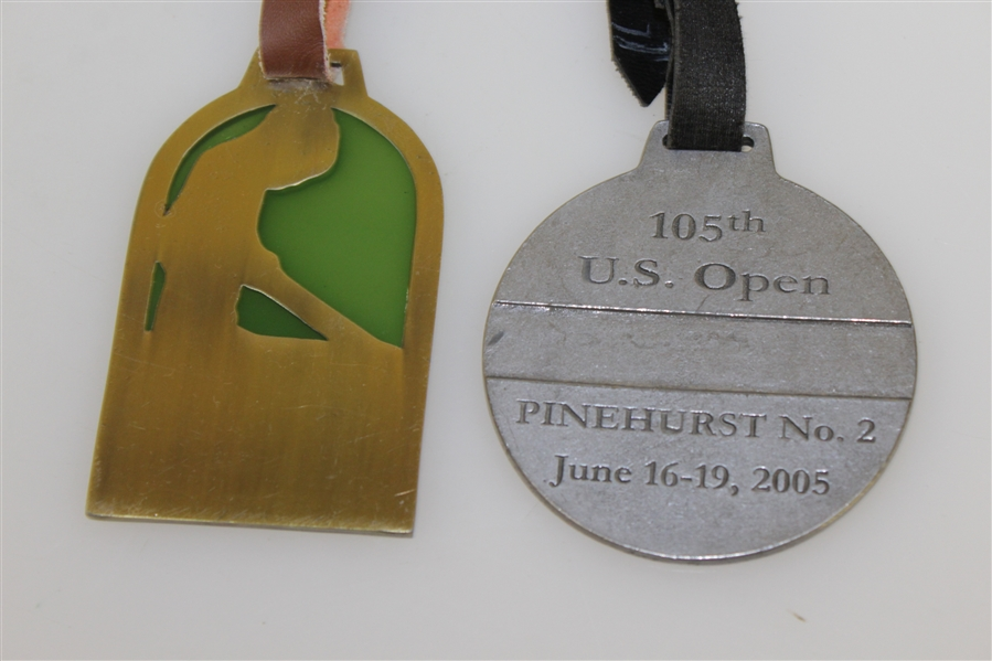 2005 US Open at Pinehurst Valuables Pouch with Bag Tag & other '1895' Bag Tag