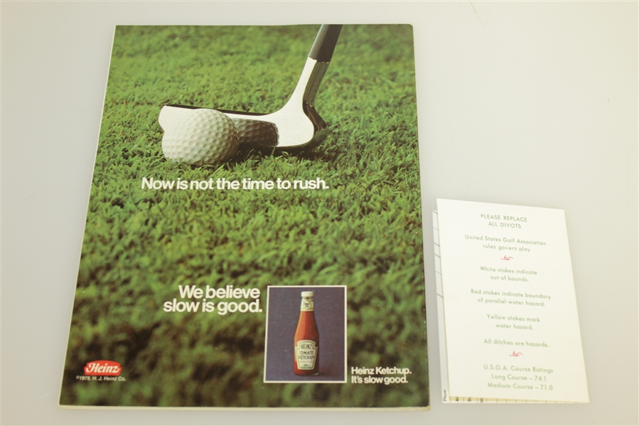 1975 Ryder Cup at Laurel Valley Package - Tickets, Program, Scorecard, Pairing Sheet