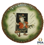 1901 Denslows Mother Goose Rain, Rain, Go Away Decorative Plate-Haynes Co. Baltimore