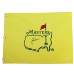 Jack Nicklaus Signed Undated Masters Embroidered Flag FULL JSA #Y52660