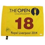 Rory McIlroy Signed 2014 Open at Royal Liverpool Flag JSA #M57165