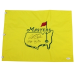 Nick Faldo Signed Undated Masters Embroidered Flag with Won Years JSA #T66092