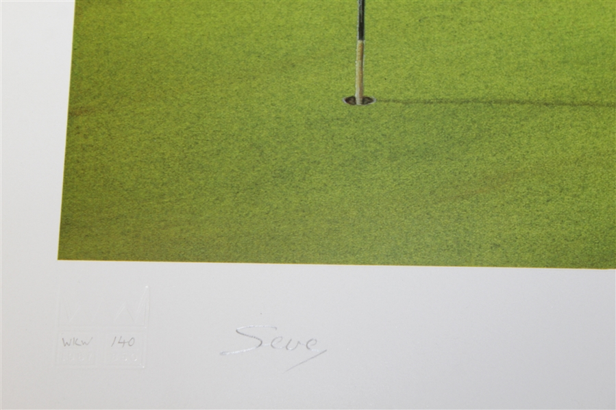 Bill Waugh Signed 'The Ballesteros Hole' The Belfry Print - Signed by Seve JSA ALOA
