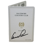 Arnold Palmer Signed Baltimore Country Club Official Scorecard JSA ALOA