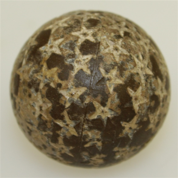 Circa 1905-1910 Vintage Star Challenger 26 1/2 Gutta Percha Golf Ball