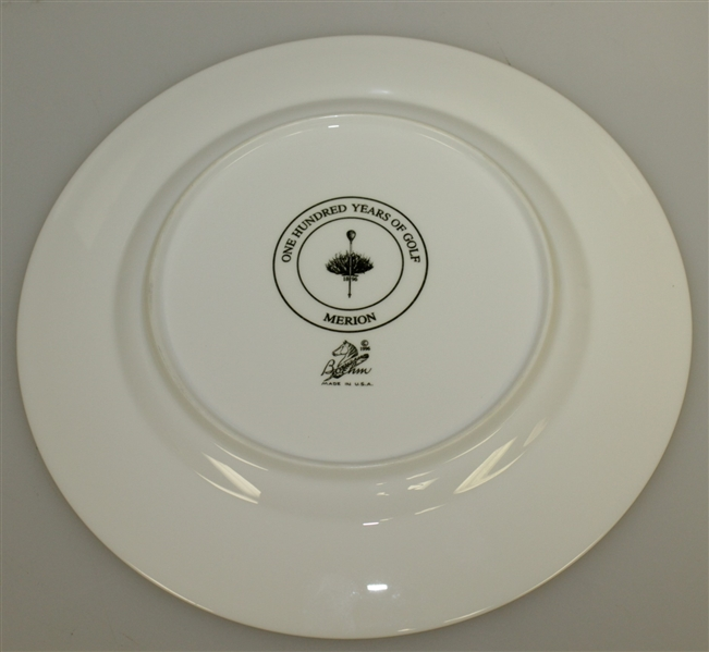 Merion Golf Club 1896-1996 Anniversary Ceramic Plate by Boehm