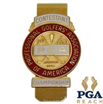 1963 PGA Championship at Dallas Athletic Club Contestant Badge - Jack Nicklaus Winner
