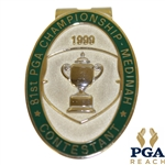 1999 PGA Championship at Medinah CC Contestant Badge - Tiger Woods Winner