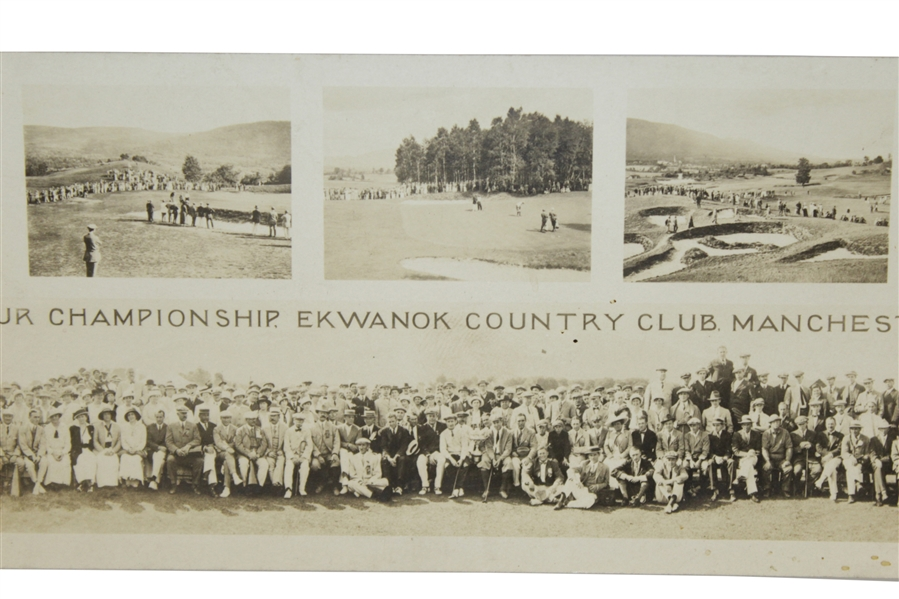 1914 National Amateur Championship Ekwanok Country Club Post Card