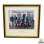 Masters Champions Dinner 1955 Photo In Green Jackets - Winners 1934-1954 Plus Jones & Roberts