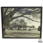 Augusta National Golf Club Clubhouse Black & White Photo - Framed