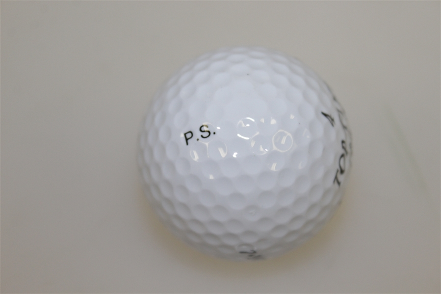 Payne Stewart Signed Top-Flite Balata Golf Ball FULL JSA #Z97996