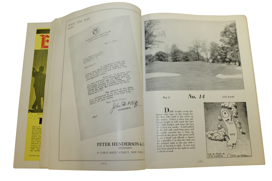 1929 US Open at Winged Foot Program - Bobby Jones Winner!