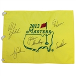 2012 Masters Dinner Champs Flag Signed by Big Three Plus Woods & Mickelson JSA FULL #Z46751