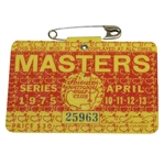 1975 Masters Tournament Series Badge #25963 - Jack Nicklaus 5th Green Jacket