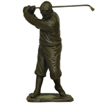 "Vintage Bobby Jones Bronze Statue with Asian Hallmark - 7.5lbs & 12 1/2"" Tall!"