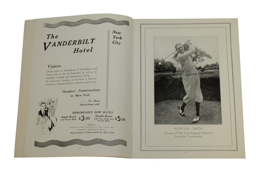 1935 Augusta National 2nd Annual Invitation (Masters) Tournament Program - Excellent Condition!