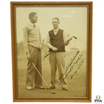 "Denny Shute Signed Photo to Horton Smith ""Highest Admiration...for Augusta 34"" JSA ALOA"