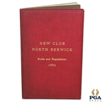 1885 North Berwick Rules and Regulations New Club Booklet - Great Condition