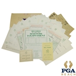 1962 Masters Lot - Scorecard, Records Sheet, Pamphlet, Pairing Sheets, & Misc. Correspondence