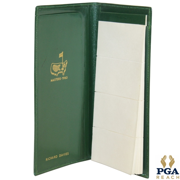 1963 Masters Player Gift Pocket Secretary - Stamped Richard Davies