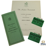 1968 Masters Tournament Items - 1968 Series Badge (x2), Records Pamphlet, & Records Booklet