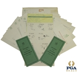 1964 Masters Tournament Items - Records Booklet (x2), Tee Placements, & Correspondence