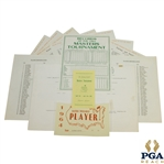 1964 Masters Tournament Items - Records, Pairing Sheets (Par 3 & Tourney), Pamphlet, & Correspondence