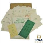 1955 Masters Tournament Items - Records Booklet, Records Pamphlet, Pamphlet, & Misc Correspondence