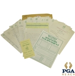1963 Masters Tournament Items - Records Sheet, Pamphlet, & Misc Correspondence