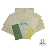 1965 Masters Items - Records Sheet, Records Pamphlet, Pairing Sheets, & Misc Correspondence