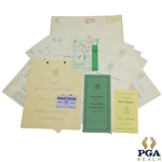 1966 Masters Items - Badge, Spec Guide, Records Pamphlet & Booklet, Pairing Sheets, & Misc Correspondence