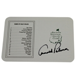 Arnold Palmer Signed Augusta National Golf Club Scorecard JSA #AA10885