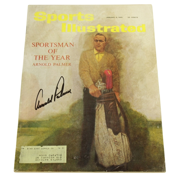 Arnold Palmer Signed January 9, 1961 Sports Illustrated JSA #Q49415