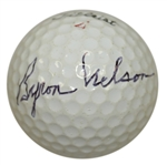 Byron Nelson Signed Titleist Logo Golf Ball JSA ALOA